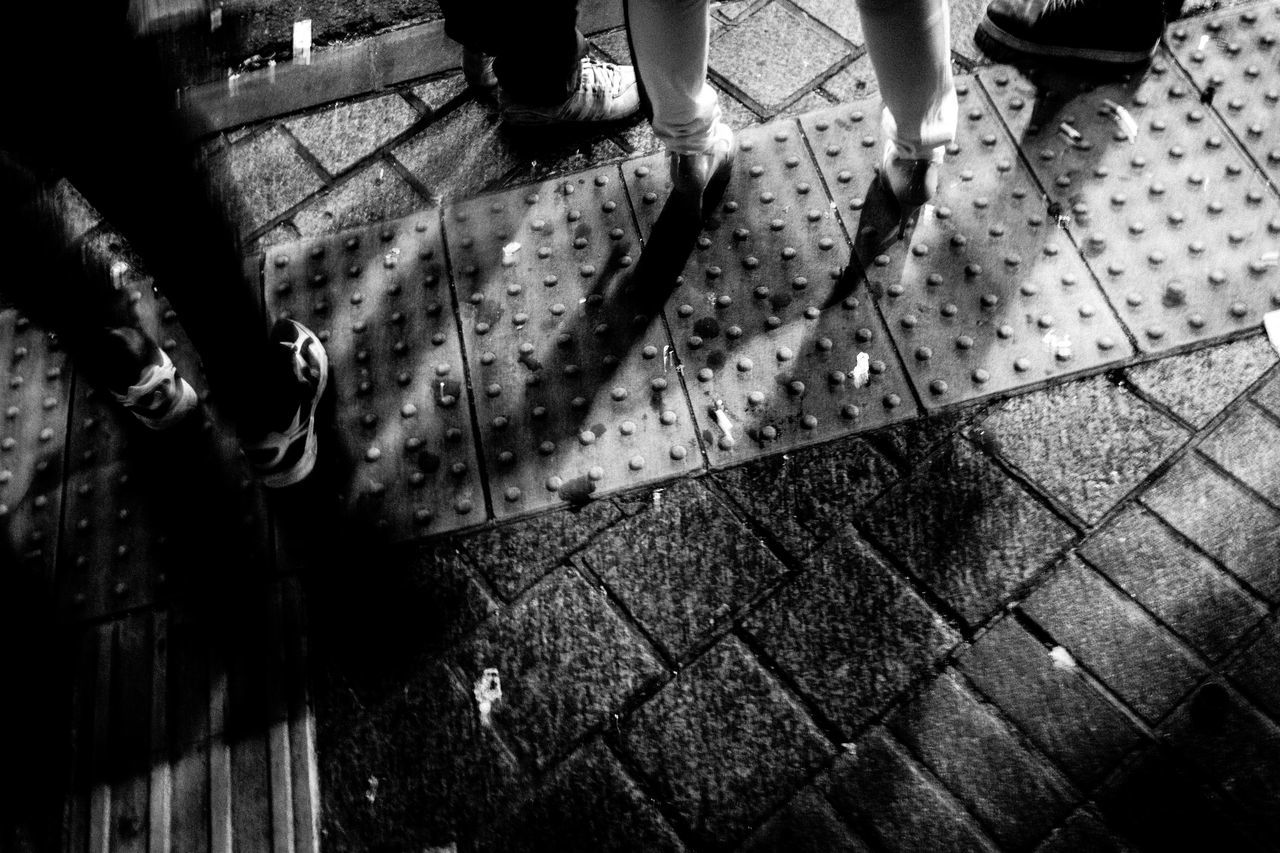 Footscapes Broken Patterns TakeoverContrast Glitch DAIDOISM B&w Street Photography Black And White Capture The Moment EyeEm Best Shots EyeEmBestPics Fine Art Fine Art Photography Getting Inspired High Angle View Legs Lifestyles Light And Shadow Low Section Simple Moment Street Photography Urban Exploration Urban Lifestyle Monochrome Outdoors Enjoying Life