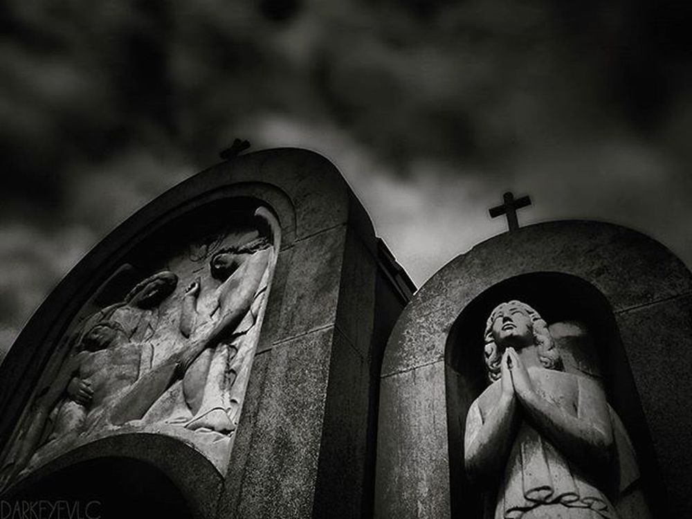 Graveyard_dead GYD_black_friday Bnw_oftheworld Blackandwhite Sky Sculpture Bnw Cementiry Mextures_cemetery Darkphotography Tv_churchandgraves Clouds Dismal_disciples Skylovers Obscure_of_our_world Bnwphotography Graveyard_shots Romantic_darkness Crytic_aesthetic Fa_sacral Ig_asylum Masters_of_darkness Artesacra Aj_graveyards Igw_gothika crypt architecture kings_gothic darkness