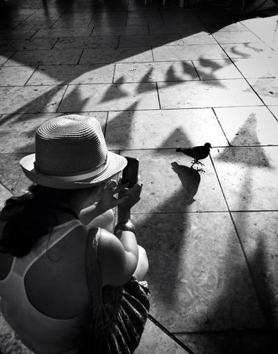 Shooting pigeons Streetphoto_bw Blackandwhite AMPt_community Taking Photos Of People Taking Photos