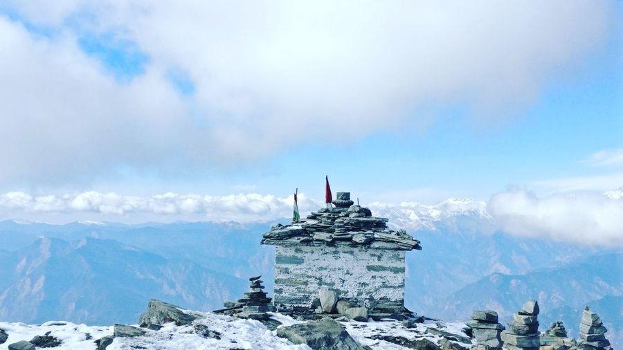 Himalayan Range Tunganath Temple Adventuresofdeath Landscape Cloud - Sky Travel Destinations Chopta Valley Choptatungnath