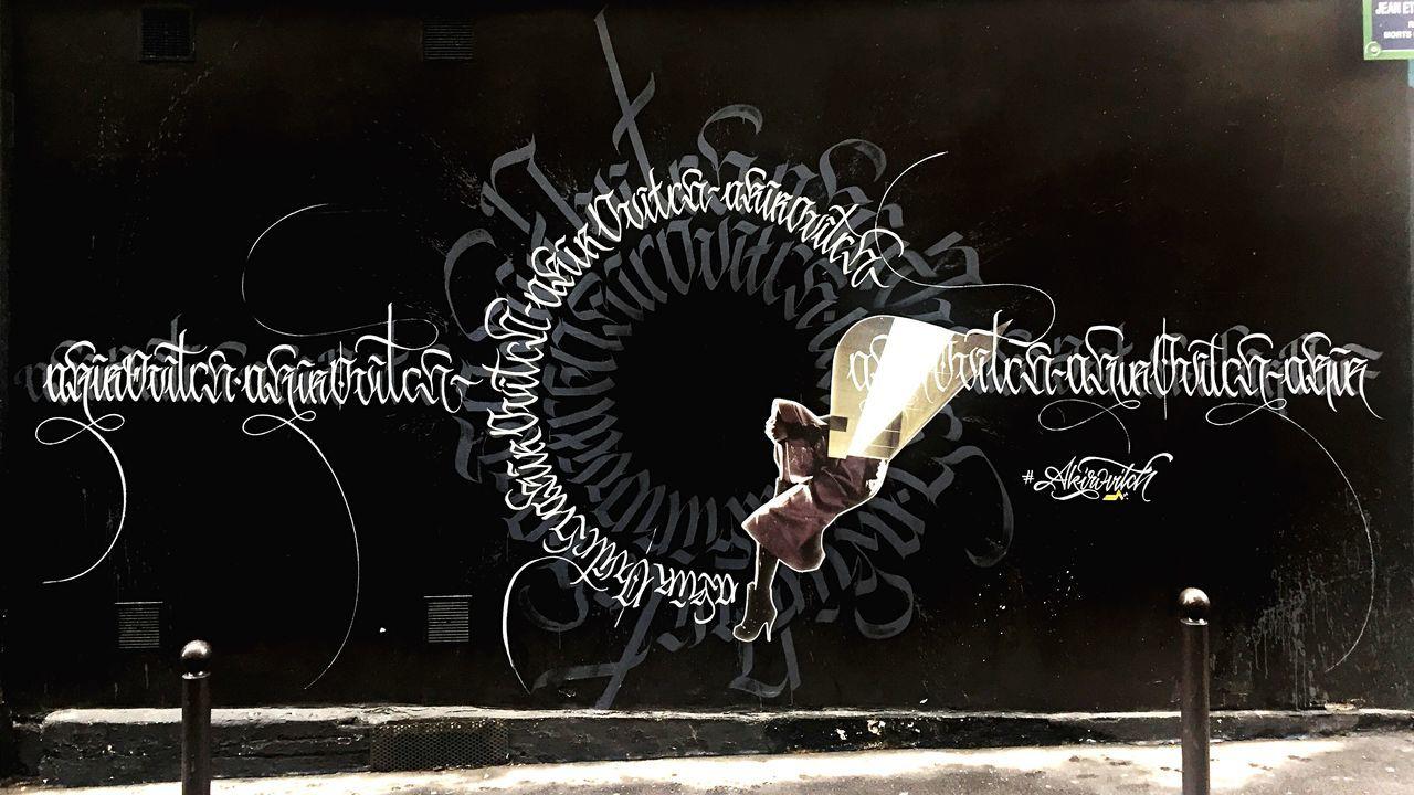 By @akirovitch #akirovitch #calligraphy & @annelauremaison #annelauremaison #collage #streetart #graffiti #graff #spray #bombing #wall
