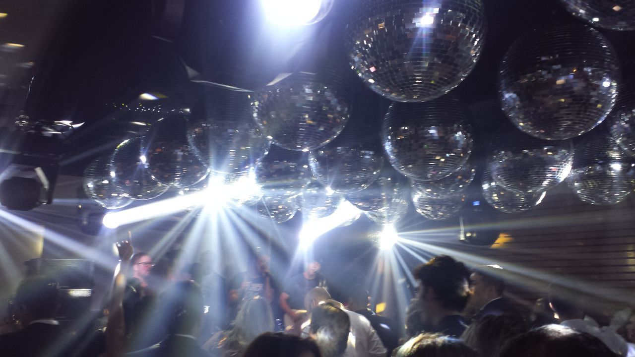 TakeoverMusic Party Party Time Dance Dancefloor Music Music Brings Us Together Dance Club Globe Lighting Equipment Light And Shadow Lights People Dancing Hands Up