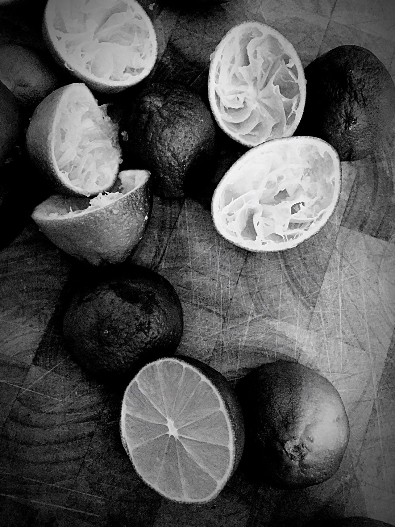 Food High Angle View Cross Section Food And Drink Vertical No People Healthy Eating Freshness Coin Indoors  Day Monochrome Photography