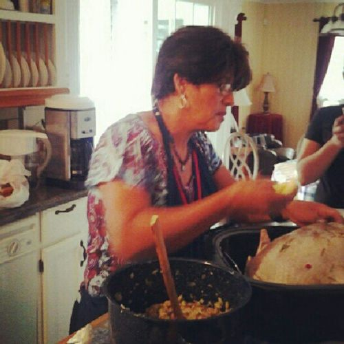 My Salvadorian momma doesn't know a thing about the history of Thanksgiving but she knows how to make a turkey! ThatsAllThatMatters