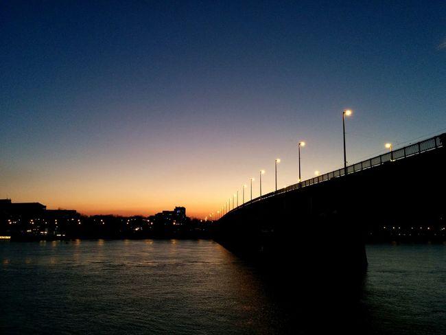 Budapest Hungary Boraroster Petofihid Bridge City Life Sundown