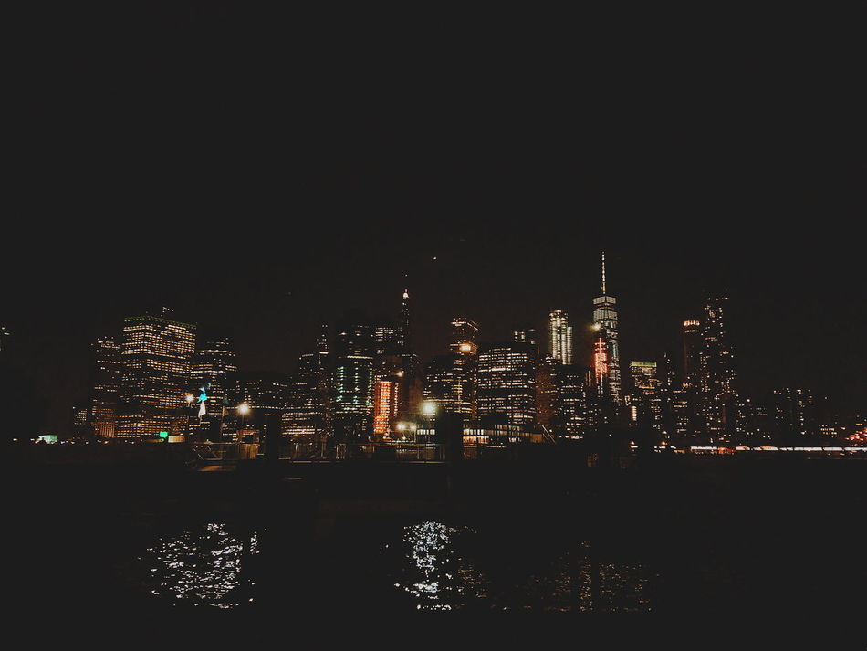 New york skyline New York Cityscape City Travel Destinations Urban Skyline New York City Night No People Illuminated Sky Outdoors City New York Skyscrapers New York Skyline  New York At Midnight Lost In The Landscape