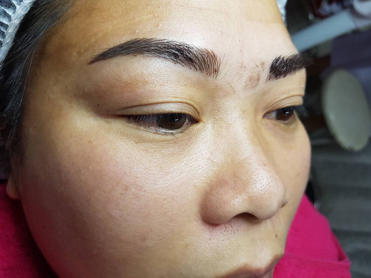 EyeEm Selects Eyebrow Tattoo ASEAN People Close-up Real People Human Eye Human Face One Person Young Adult Human Body Part Portrait Young Women Day Indoors  Eyebrow Eyelash People