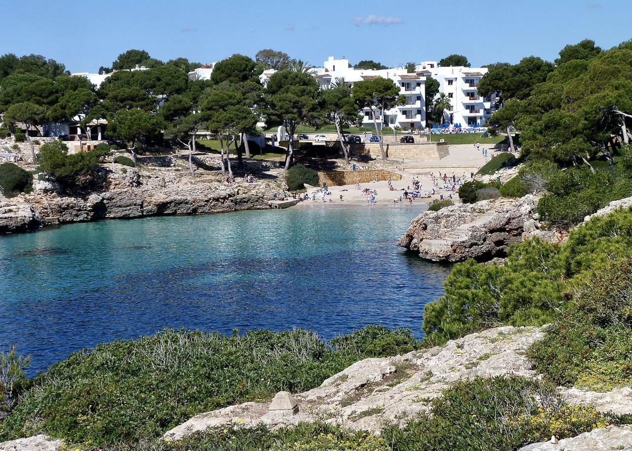 Bay view in Majorca, Spain Apartment Architecture Bay Beach Beach Life Beauty In Nature Cala Chalet Coastline Landscape Luxury Mallorca Nature Outdoors Paradise Pine Trees Sky SPAIN Stone Sunshine Tree Turquoise Vacations Village Water