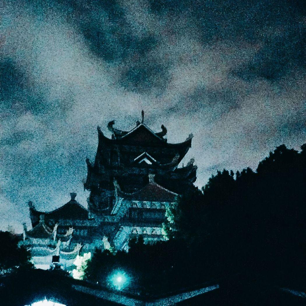 寺庙 Night Architecture Sky Outdoors No People Built Structure Nature