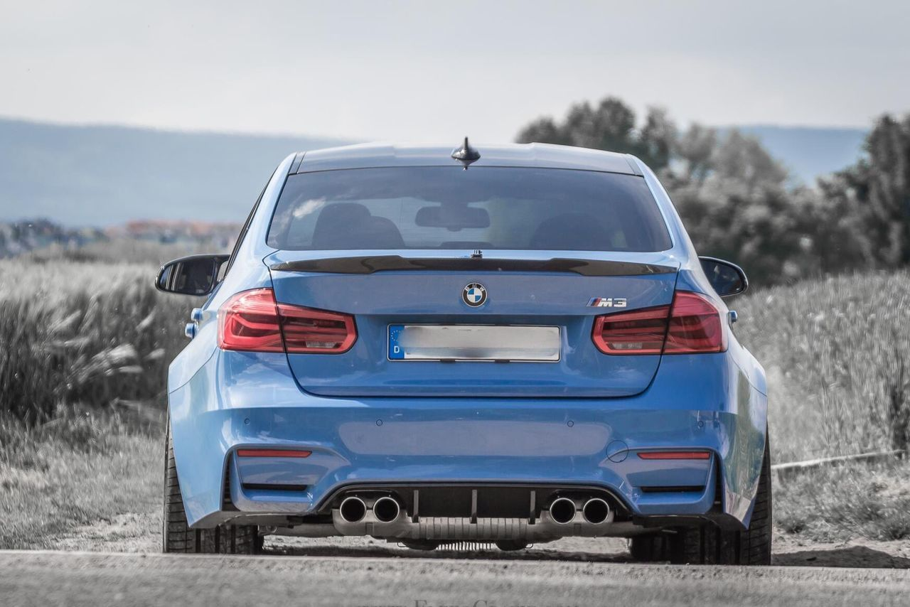 Bmw Bmwmotorsport BMW M3 Car Backview Focus On Foreground Outdoors Scenics Nature Parked Car Canonphotography FlexoGrafie