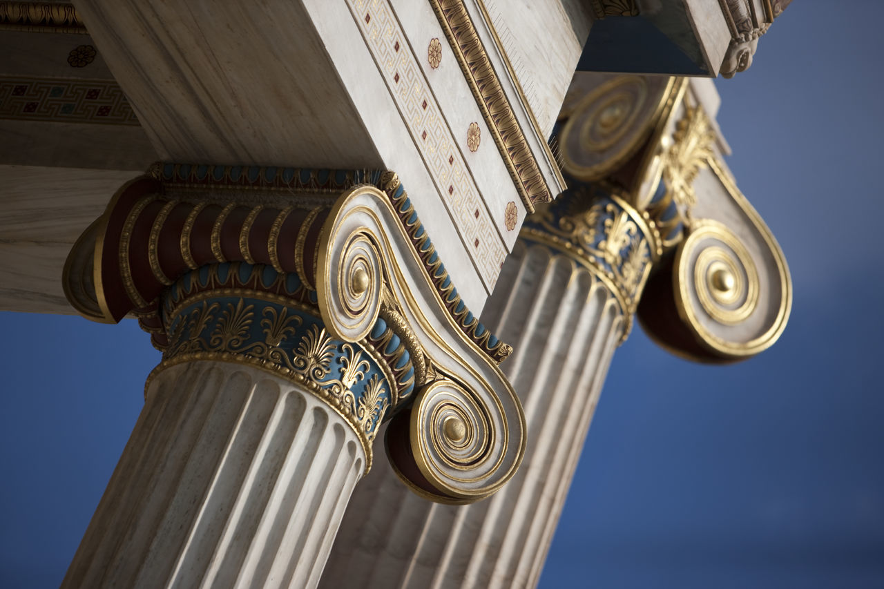Academy Of Athens Architectural Detail Architecture Athens Capital Cities  Colors Column Creativity G Hans Christian Hansen Historic Ionic Order Old Ornate
