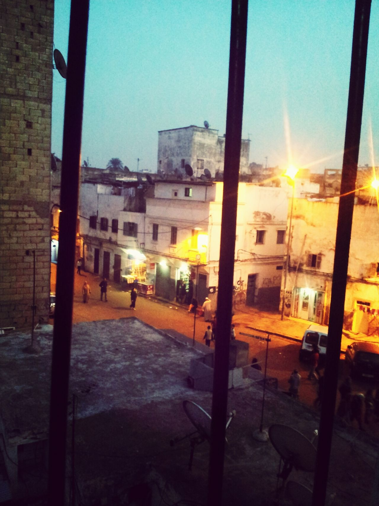 View of the old medina from an old house window Casablanca