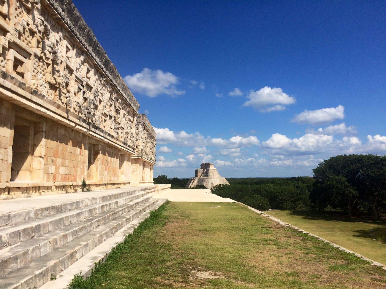 HiTravelers Sky Architecture Uxmal Visitmexico Yucatan Mexico