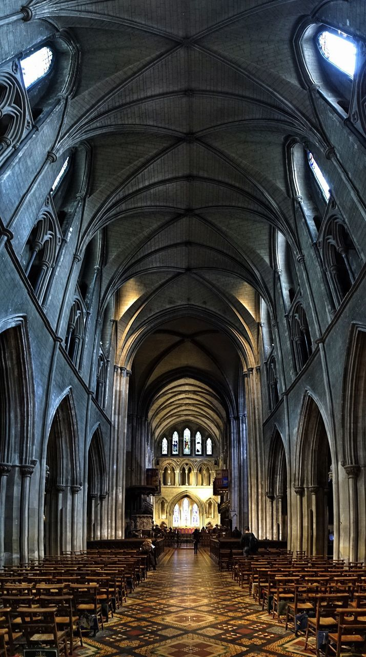 arch, architecture, indoors, place of worship, no people, day