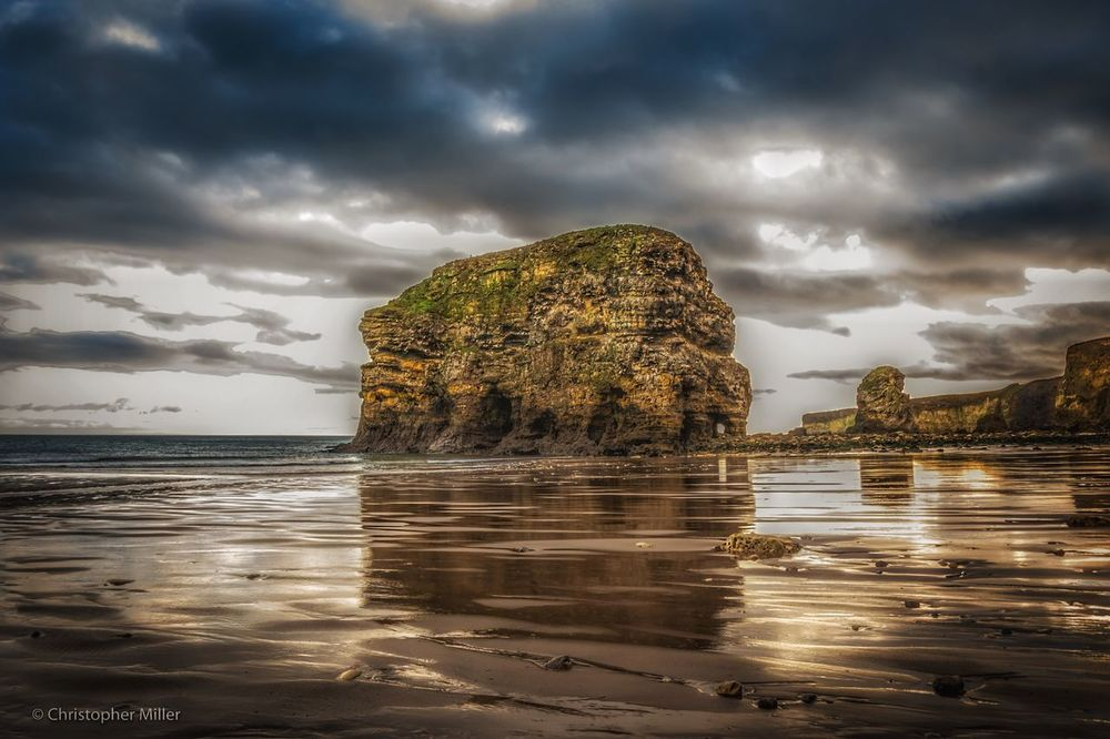 DSLR shots Sea Water Nature Cloud - Sky Beauty In Nature Scenics Sky Tranquility Idyllic Beach No People Travel Destinations Tranquil Scene Outdoors Horizon Over Water Sand Day Marsden Rock Nikon D7200 Fresh On Eyeem  Nikon Eyem