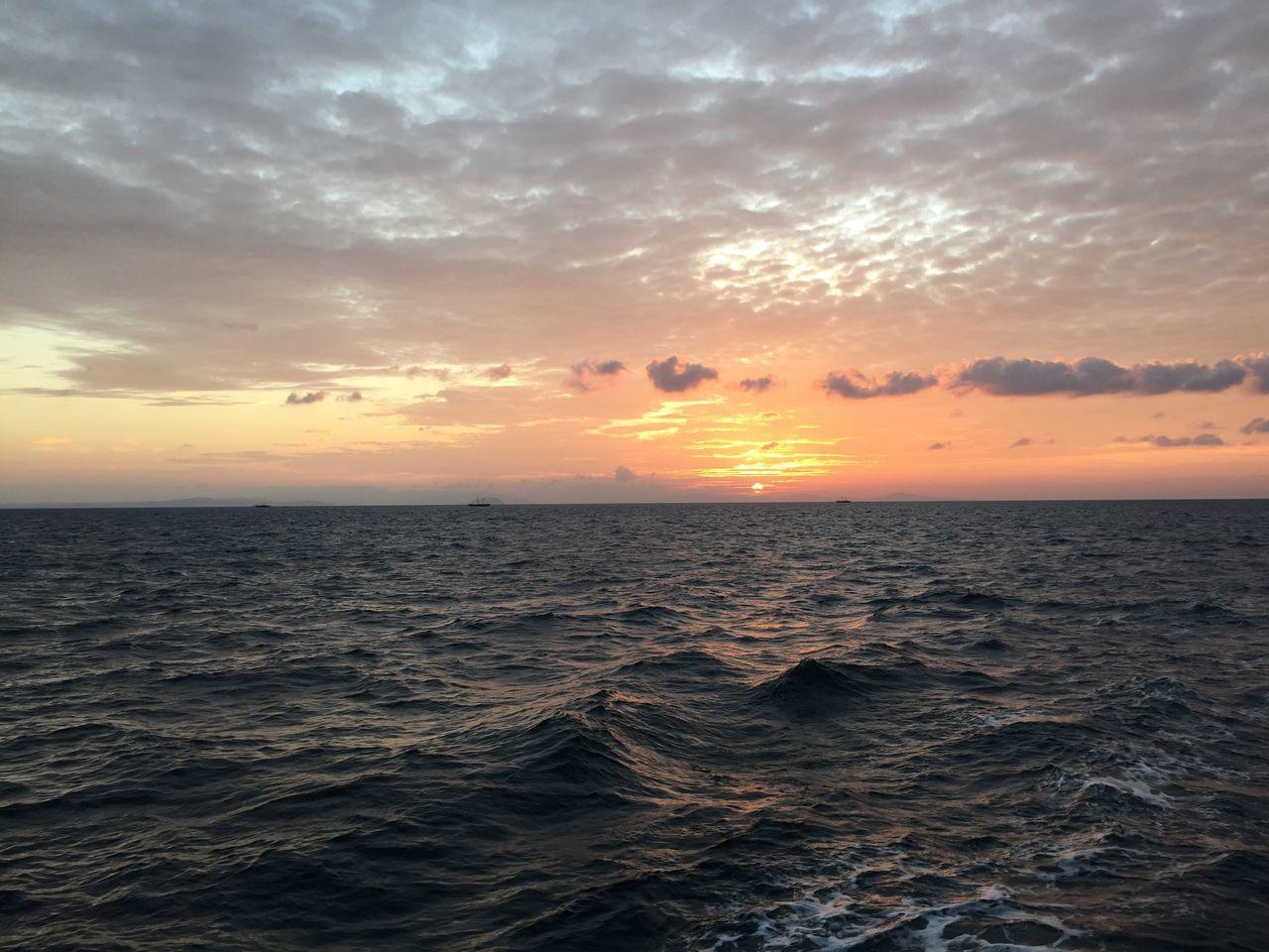 Horizon Over Water Sunset peace Tranquil Scene Sky