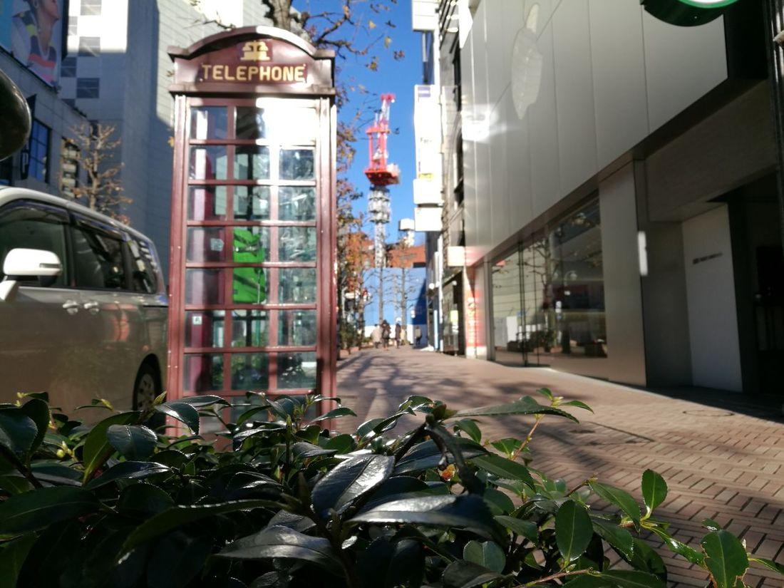 電話ボックスEyeEmNewHere Built Structure No People Outdoors City Day Architecture Telephone Tokyo,Japan Shibuya Street Photography Telephone Box Letour Legacy Tokyo