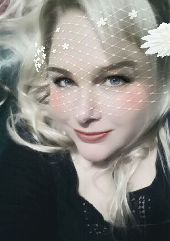 Portrait Of A Woman Make-up Self Portrait Retro Style Pinup Photography