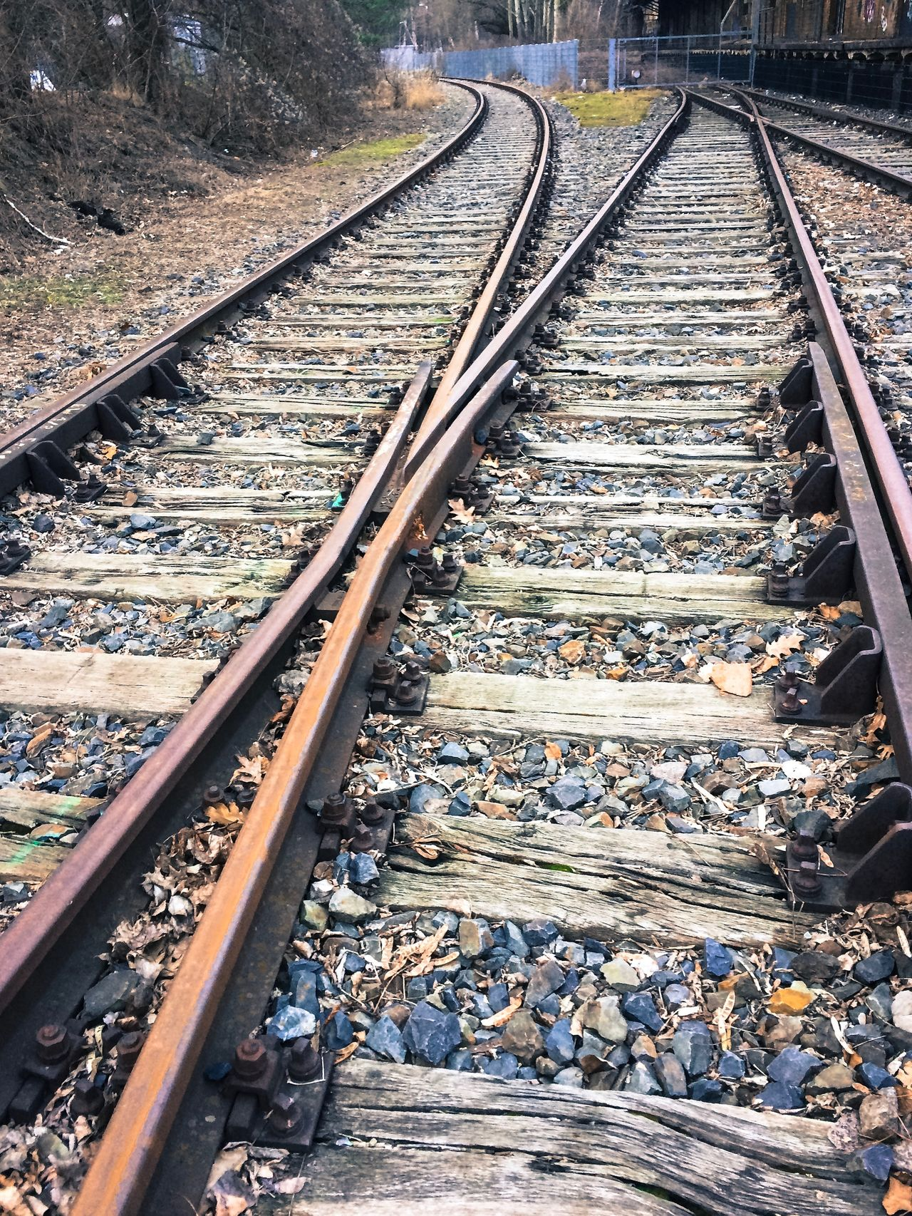 Two railway tracks go in different directions Berlin Day Diffrent Direction Future Goal Nature No People Nobody Outdoors Perspective Rail Transportation Railroad Tie Railroad Track Railway Track Retro Target Tracks Train Train Tracks Transportation Travel Which Way To Go?
