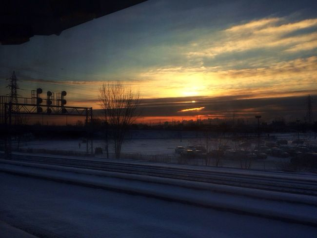 Sunrise through a dirty window. IPhoneography The Minimals (less Edit Juxt Photography) Sunrise
