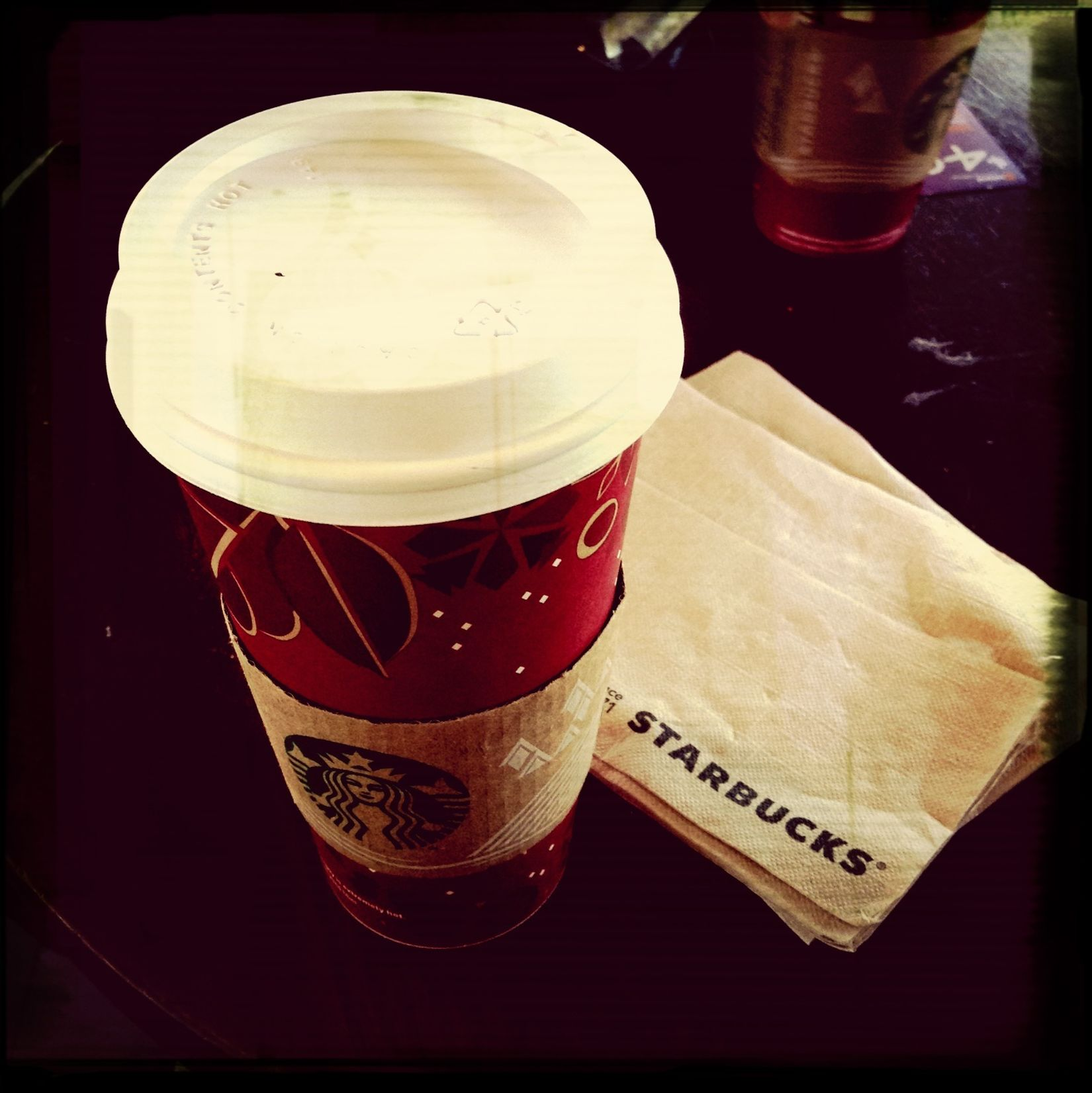 As usual. Coffee