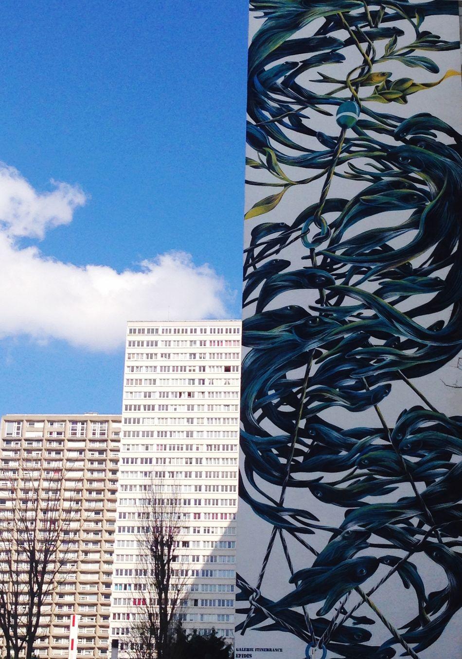 Paris Paris13 Building Exterior Architecture Streeart Sky