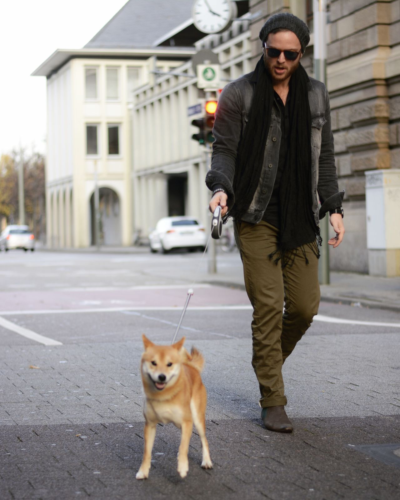 Shiba Inu Karlsruhe Walk Dog Humansbestfriend Mavi Lifestyle Persol Sunglasses Casual Goodlife Dogandman Karlsruhe 0721 Germany Deutschland Outfit Herrenmode Menswear Style Pets One Animal Full Length One Person One Man Only