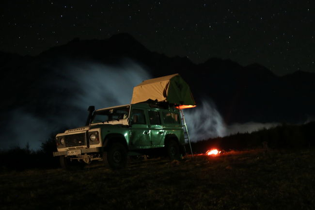 Adventure Car Fog Georgia Kazbegi Misty Mountain Nature Night Outdoors Stars Tent Traveling