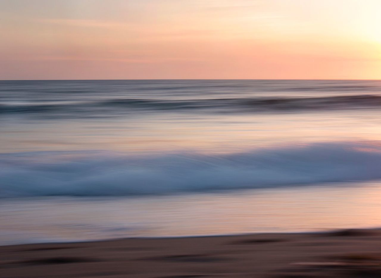 Sunset beauty Sunset Sea Beauty In Nature Nature Scenics Horizon Over Water Beach Tranquility Tranquil Scene Sky Idyllic Water Outdoors Cloud - Sky No People Sand Motion Landscape Wave Day