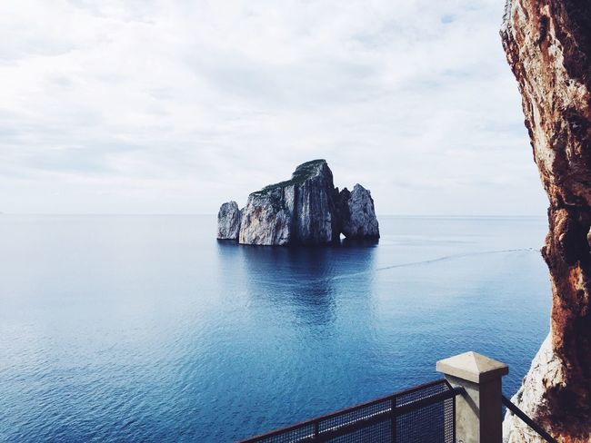 The perfect postcard ~ Sardinia Postcard Beautiful Landscape Sea Sea And Sky Clouds And Sky Masua Pandizucchero