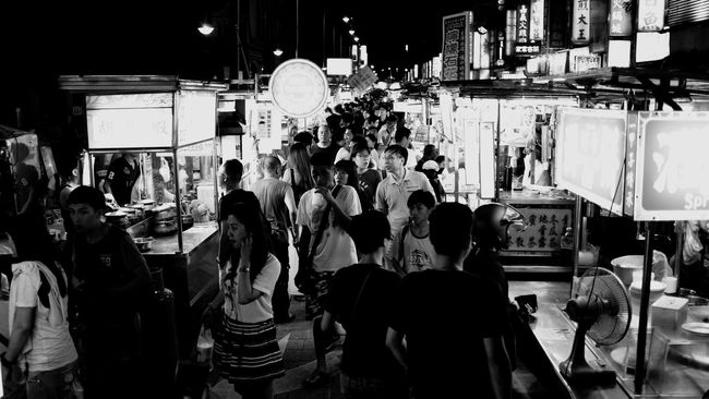At 宁夏夜市 Travel Blackandwhite Taiwan Cityscapes Glitch Deceptively Simple Photos That Will Restore Your Faith In Humanity Walking Around