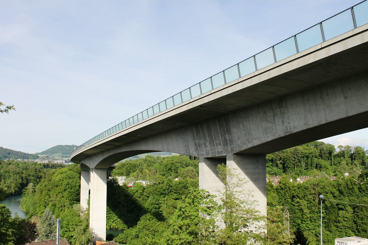 Connection Viaduct Architecture Built Structure Highway Transportation Outdoors Road Tree Sky Day HJB Bridge Photography Bridge Bern, Switzerland Architecture