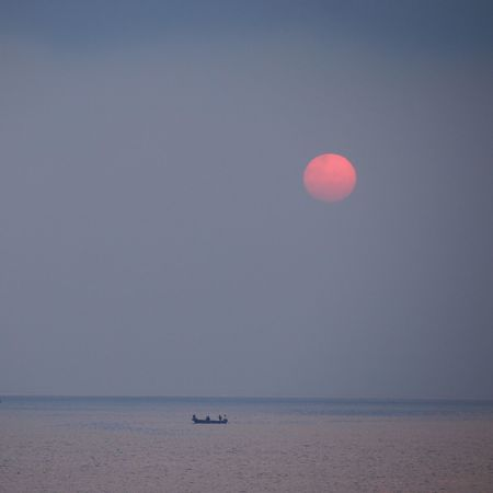 Sea Horizon Over Water Water Scenics Tranquil Scene Nature Beauty In Nature Tranquility Moon Waterfront Outdoors Clear Sky Beach No People Sky Horizon Sand Nautical Vessel Day