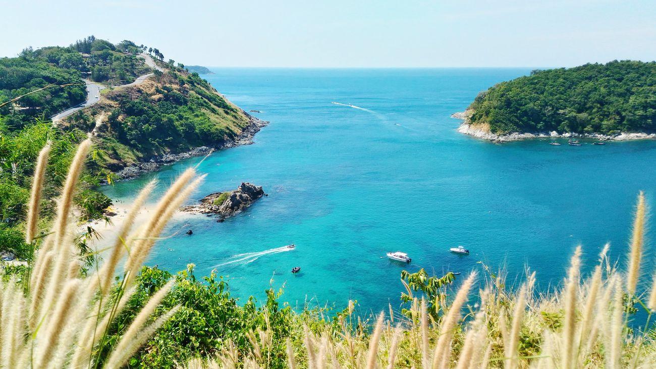 Blue ocean with little green island Viewpoint Phuket,Thailand First Eyeem Photo Ayouzainy