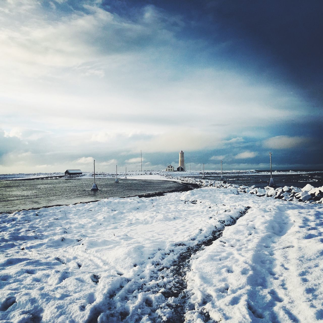 Beautiful stock photos of iceland, Cloud - Sky, Cloudy, Cold Temperature, Covered