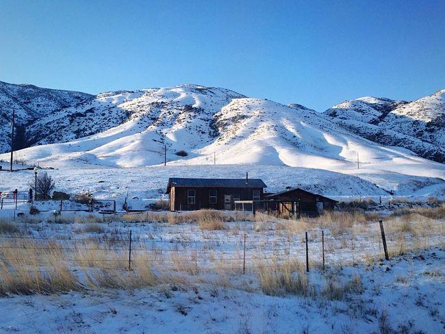 Landscape outside Boise Idaho today. Traveling Winter