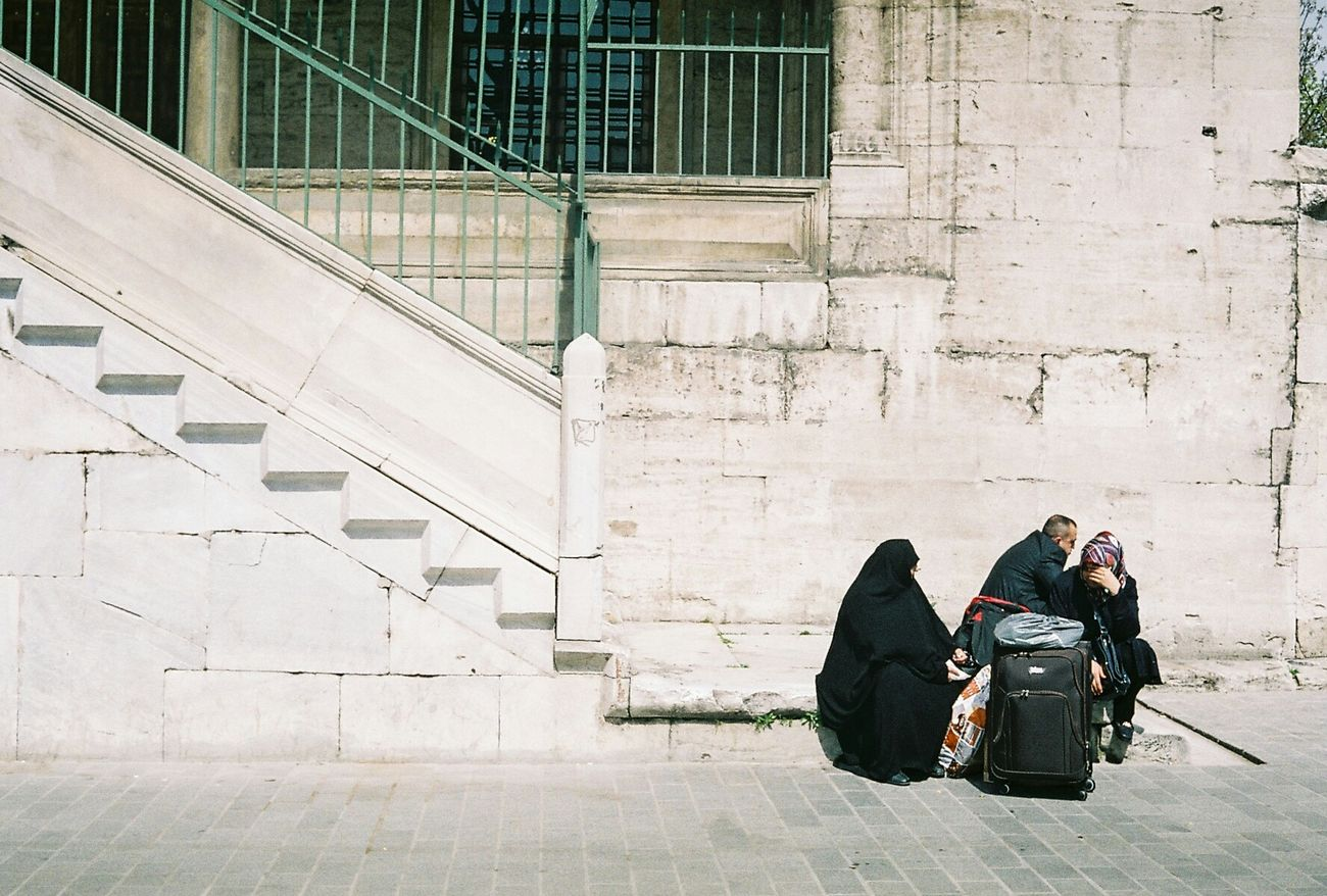 18.04.2015 - Eminonu, Istanbul. The Street Photographer - 2015 EyeEm Awards Streetphotography Canonetql17 Filmisnotdead Analogue Photography Urban Geometry Cknvisualportfolio