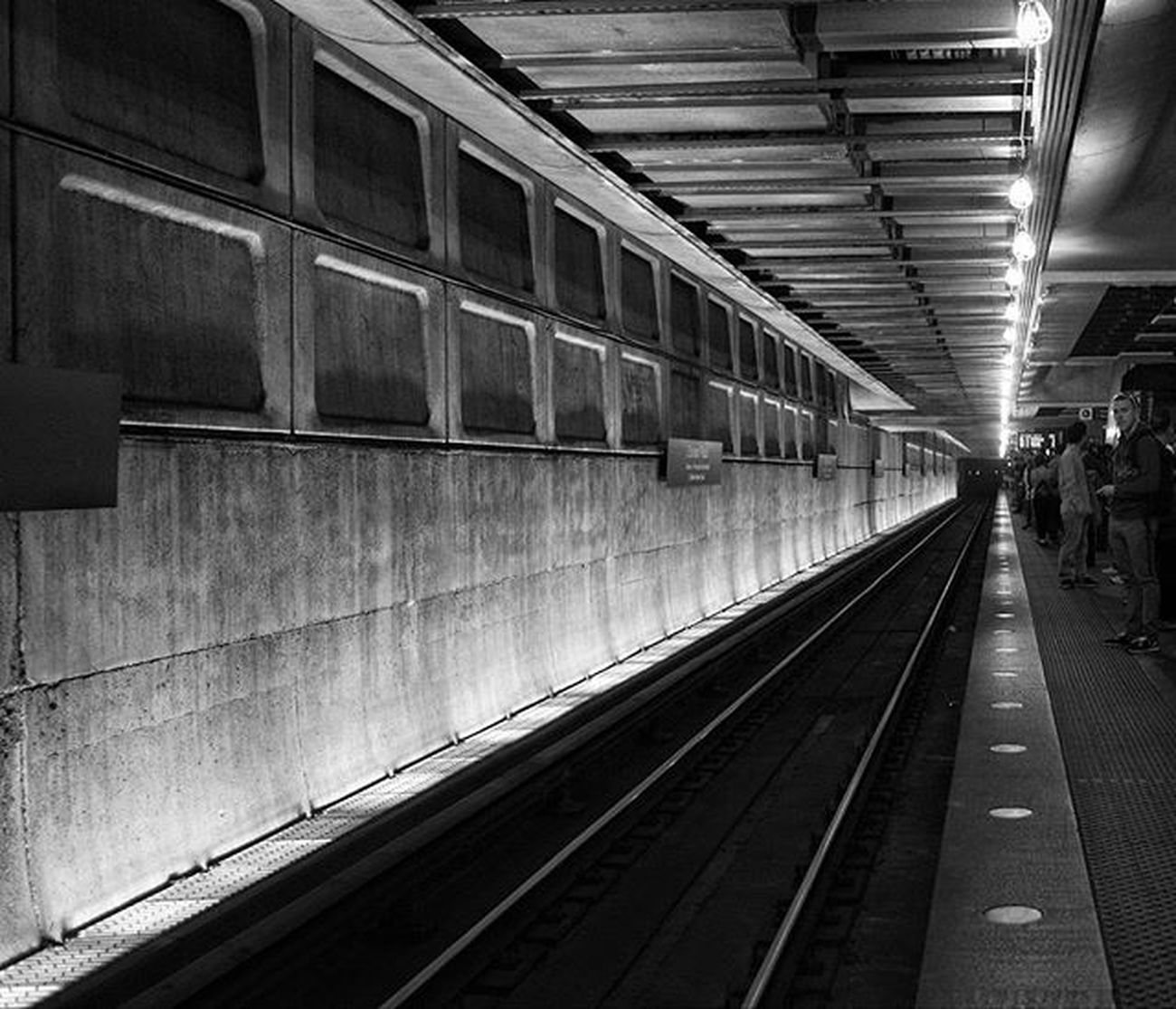 """The patience through darkness is key, eventually it will lead to your destination, it will lead you to a better light.""- @qasim.hasan.72 Darknesstolightness Metro Youngmetro Blackandwhite Train Destination Waiting LightAtTheEnd Patience Majorkey Lights DC Ponderonit Ztprod"