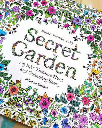 Secret Garden Coloring Book Johannabasford Faber Castell Flowers Garden Colourful