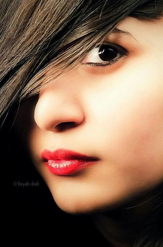Fashion Lips Red Redlips Hair Makeup Studio Faryabshah Girl Friend