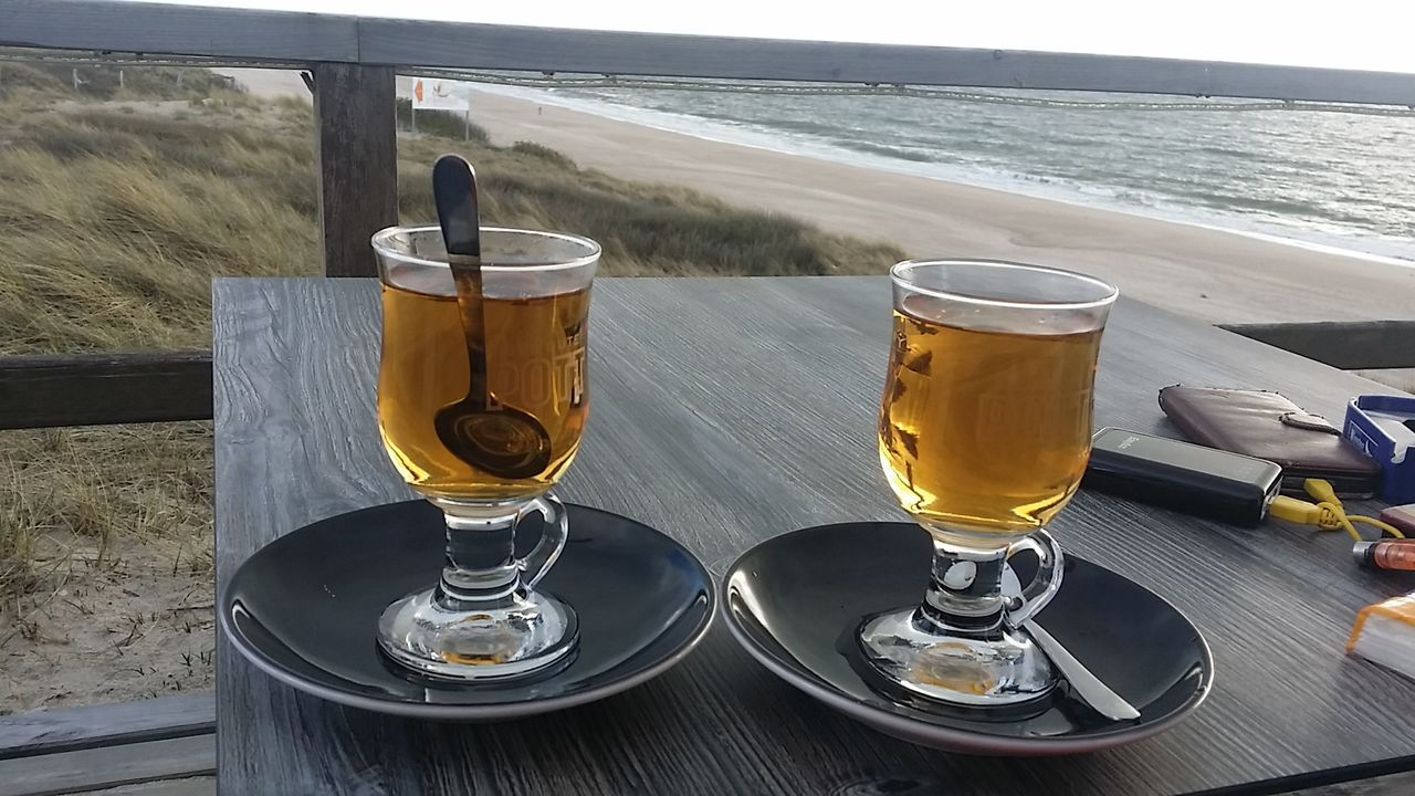 Beach Drink Drinking Glass Sea Sand Water Refreshment Cold Temperature Nature Horizon Over Water EyeEm Best Shots - Nature In The Evening Silence Silent Moment Nordsee North Sea Sylt_collection Beliebte Fotos EyeEm Best Shots Open Edit Landscape_photography Sylt Strand Nature_collection From My Point Of View EyeEm Nature Lover Popular Photos