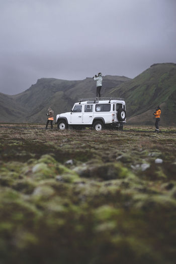 Travelling the highlands of Iceland 4x4 Iceland Adventure Car Girls Icelandtrip Land Vehicle Mode Of Transport Nature Off-road Vehicle Outdoors Real People Transportation first eyeem photo