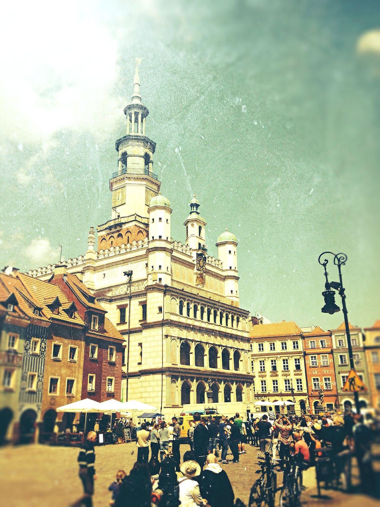Poland Poznań Oldmarket Stary Rynek Poznan Goat Old Buildings Hometown Architecture Sunny Day Tourists