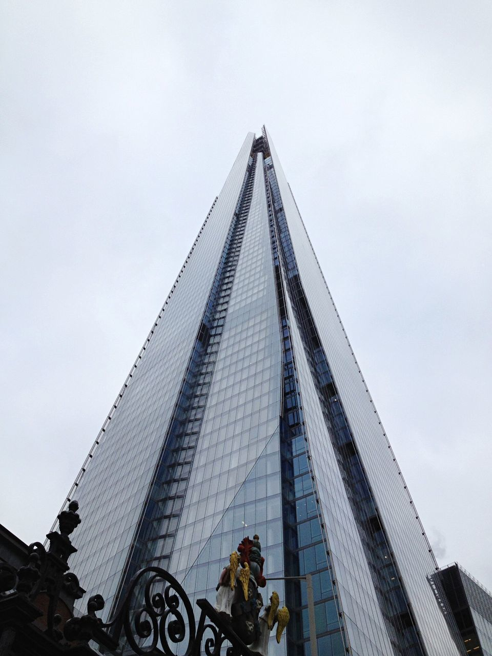 Low Angle View Of Shard London Bridge Against Clear Sky