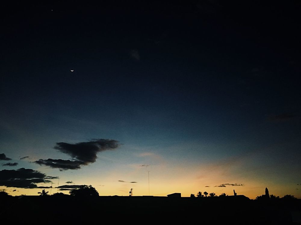 Silhouette Sky Sunset Nature Building Exterior No People Scenics Outdoors Night Beauty In Nature Architecture Tree Astronomy Star - Space Eyeem Philippines