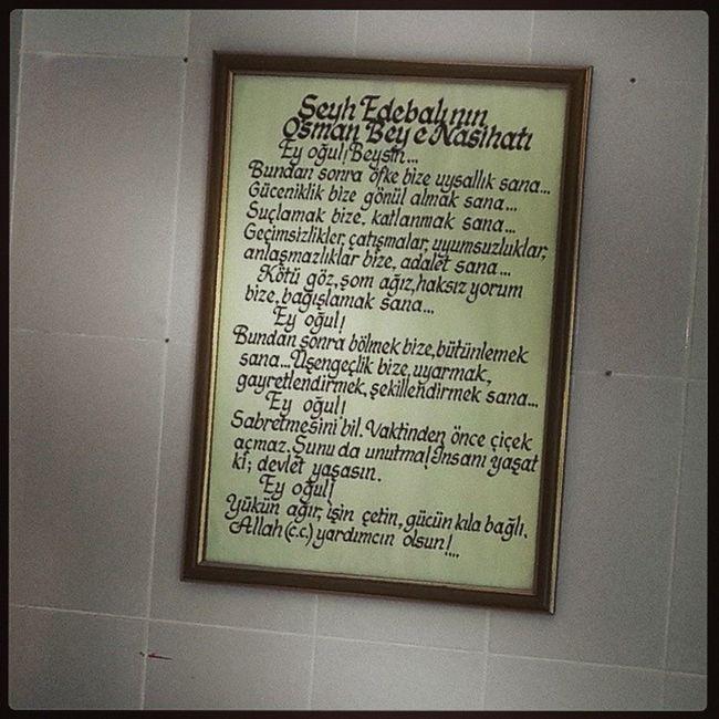 Karacaahmet Mezarligi Gasilhane Girisindeki sehedebalinin osmanbeye nasihati gozlerindolmamasimumkundegil