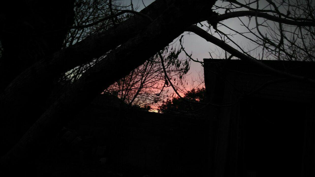 Twilight Sky Redandblue Lightsandshadows