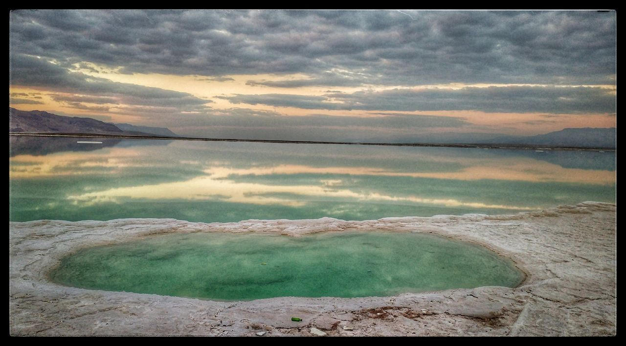 The Great Outdoors - 2017 EyeEm Awards Water Nature Beauty In Nature Sunset Salt - Mineral Sky Deadsea Landscape