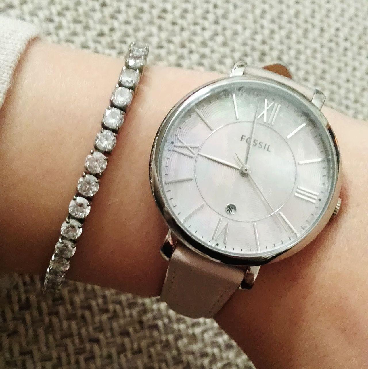 Clock Jewellery Armband Rosé Silver  Glamour Glitters