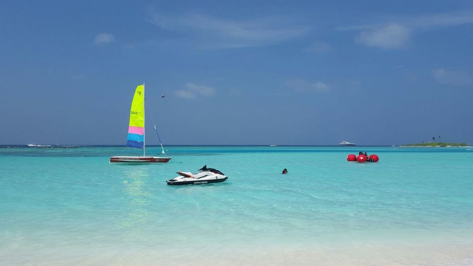 Blue Sea Water Sky Nautical Vessel Sailing Travel Sailboat Travel Destinations Vacations Outdoors Luxury Nature Leisure Activity Beauty In Nature Day Sailing Ship No People Yachting